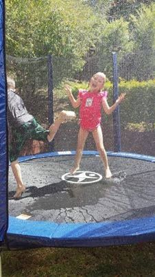 Nothing better than being hosed down while having a jump on a really hot day!!! :)  Jump Star Kids are awesome!!! xx  www.jumpstar.com.au