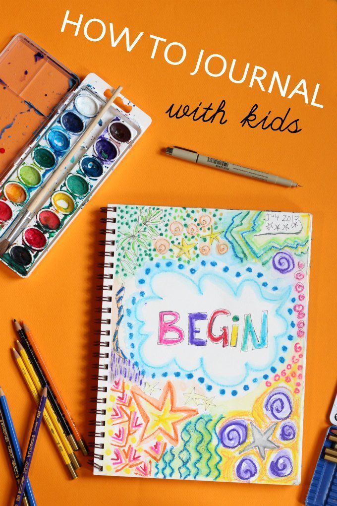 Lots of ideas for helping kids to start a journal. Art journal and writing journal ideas are included.
