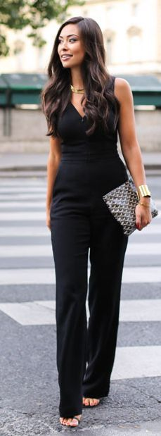 Black Jumpsuit Outfit Idea by With Love From Kat