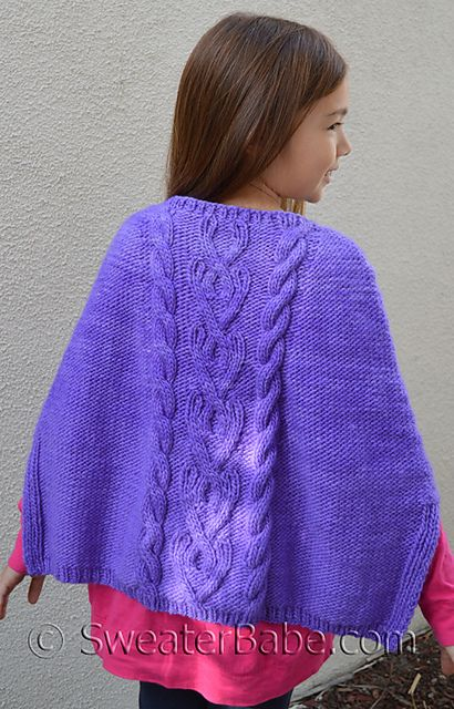 Ravelry: #179 Stolen Hearts Poncho pattern by SweaterBabe