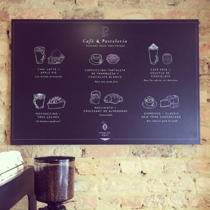 Diseño tablero café colombiano Panacee