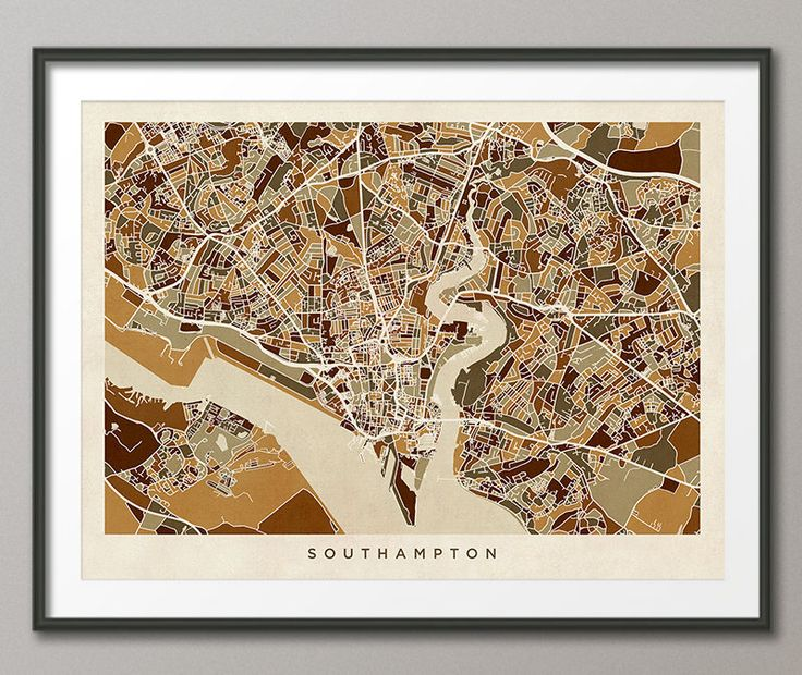 Southampton Map, Southampton Hampshire England City Street Map, Art Print (2790) by artPause on Etsy