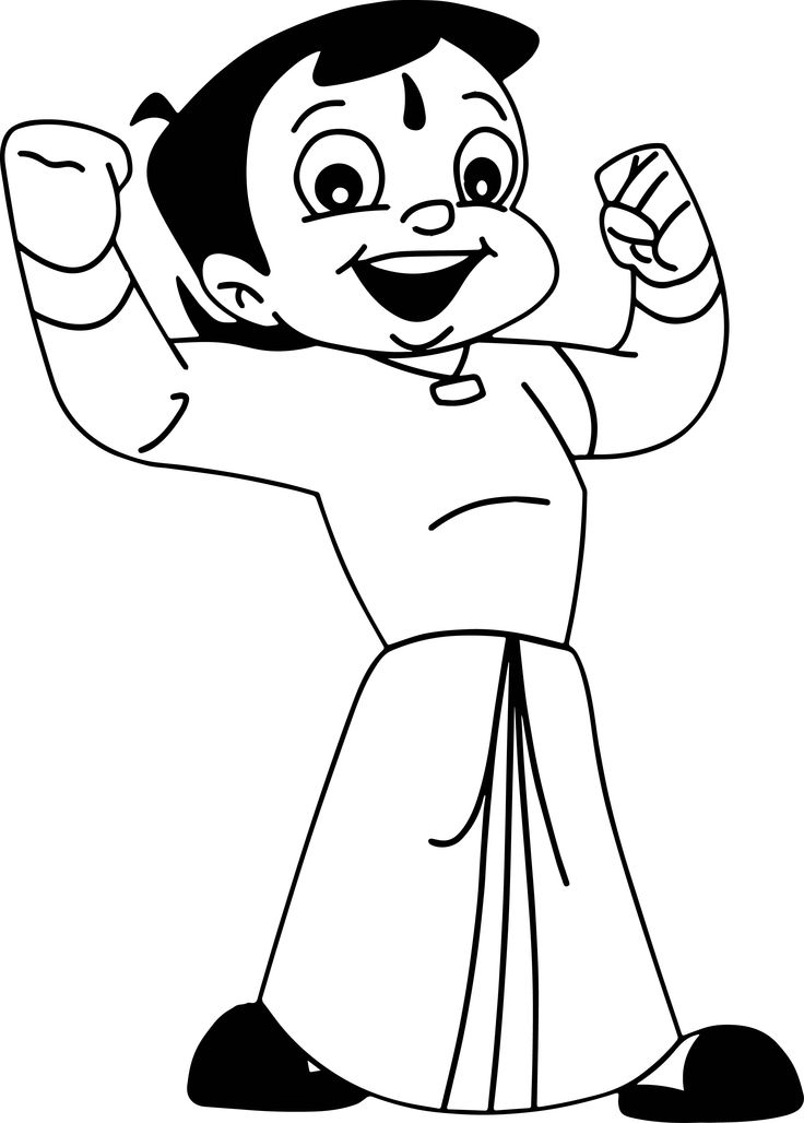 awesome Chota Bheem Coloring Pages