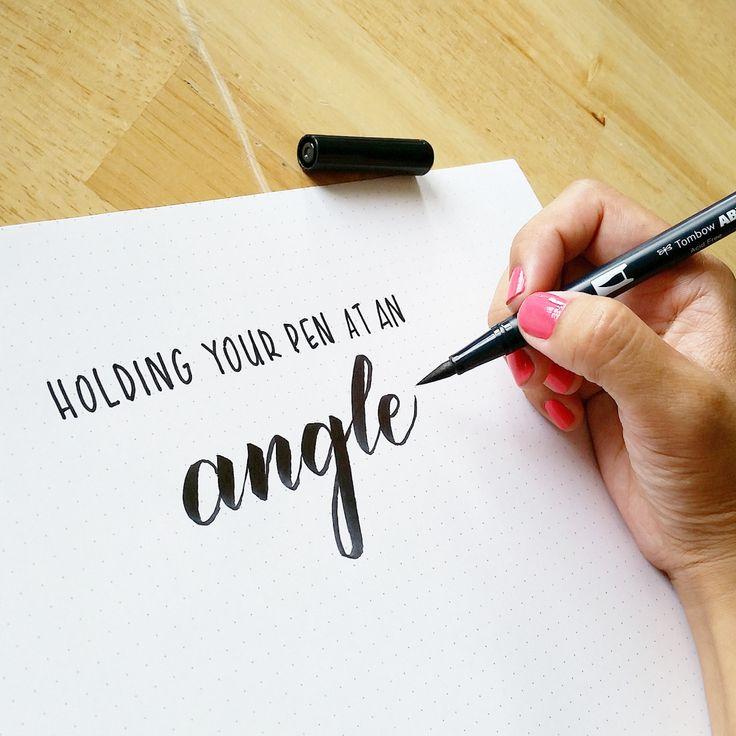 I've written about brush calligraphy being defined by its distinct thin and thick strokes. I've shared my favorite brush pens and how they work to create brush calligraphy. But some of you are stil...