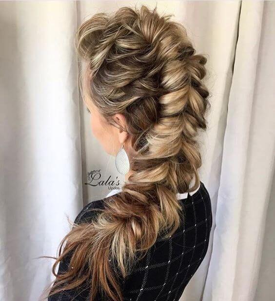 объемные косы на длинные волосы фото