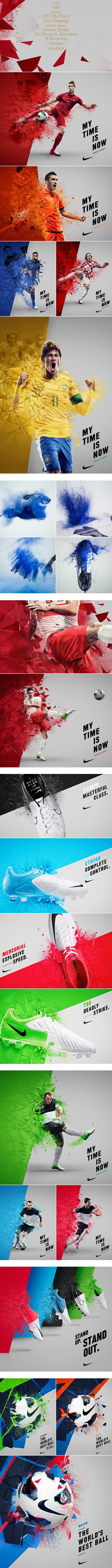 this is just a nice way of creating interest with graphics and superstars to promote nike product. Really liked how the colors were incorporated in the campaign.