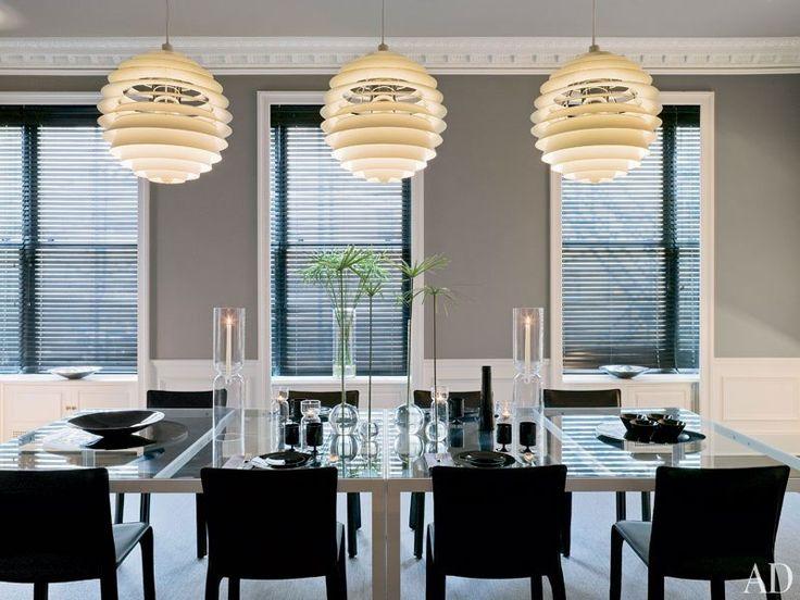 Gray walls and modern lighting