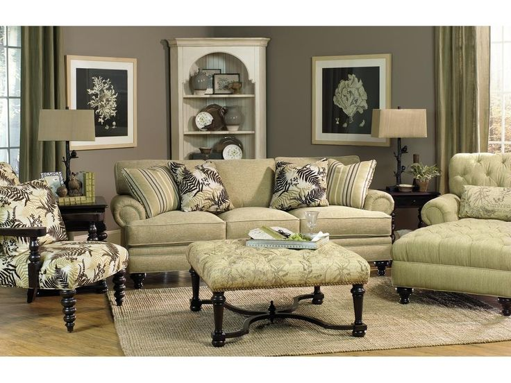 Paula Deen Furniture | Paula Deen By Craftmaster Living Room Three Cushion  Sofa P709950BD .