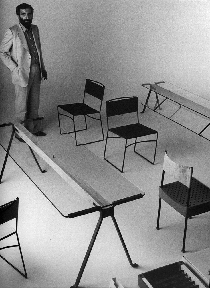Enzo Mari, 1980. With his furniture for driade
