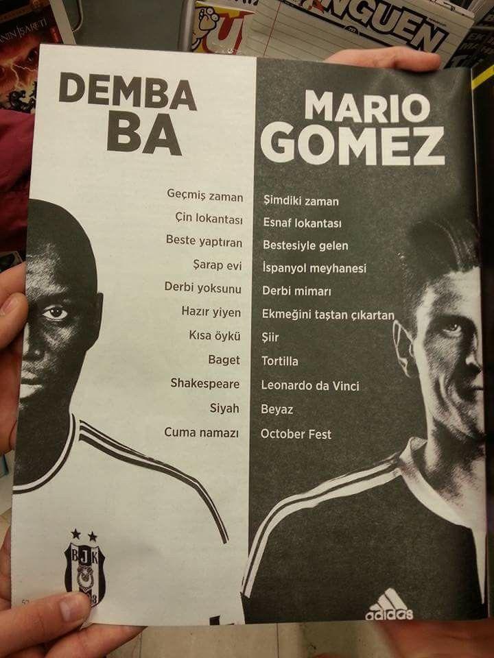 Demba Ba ve Mario Gomez... #Beşiktaş