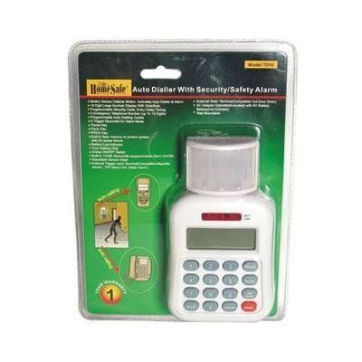 HomeSafe® Auto Dialer Security and Safety Alarm by HomeSafe®. $24.99. Now, you can protect your home or office with the Auto Dialer Security and Safety Alarm. The Auto Dialer is a unique passive infrared system that monitors motion in an area you select. When the unit is armed, the motion detector watches the protected area. Once movement is detected, a 105db security alarm will sound and the Auto Dialer will call up to 5 preset telephone numbers selected by you...