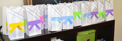 Gi favor bags Catching Some Z!: Guess what? Zayd had a karate party, and you've never seen it