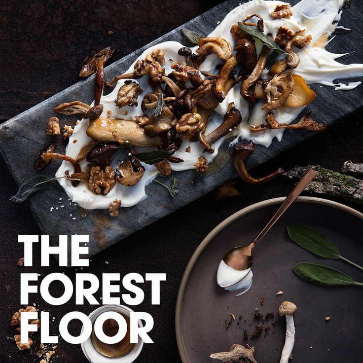 The forest floor #cream #mushroom #butter #sage #maple #salt #walnut #recipe #appetizer