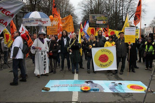 Tihange : de nouveau une manifestation contre l'énergie nucléaire