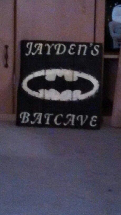 Batman sign with lights