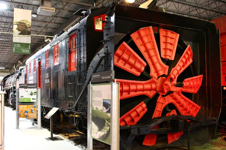 Chasse-neige rotatif / Rotary Snowplow #exporail #trains #musée #museum
