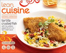 Copycat Lean Cuisine Tortilla Crusted Fish | OAMC from Once A Month Meals