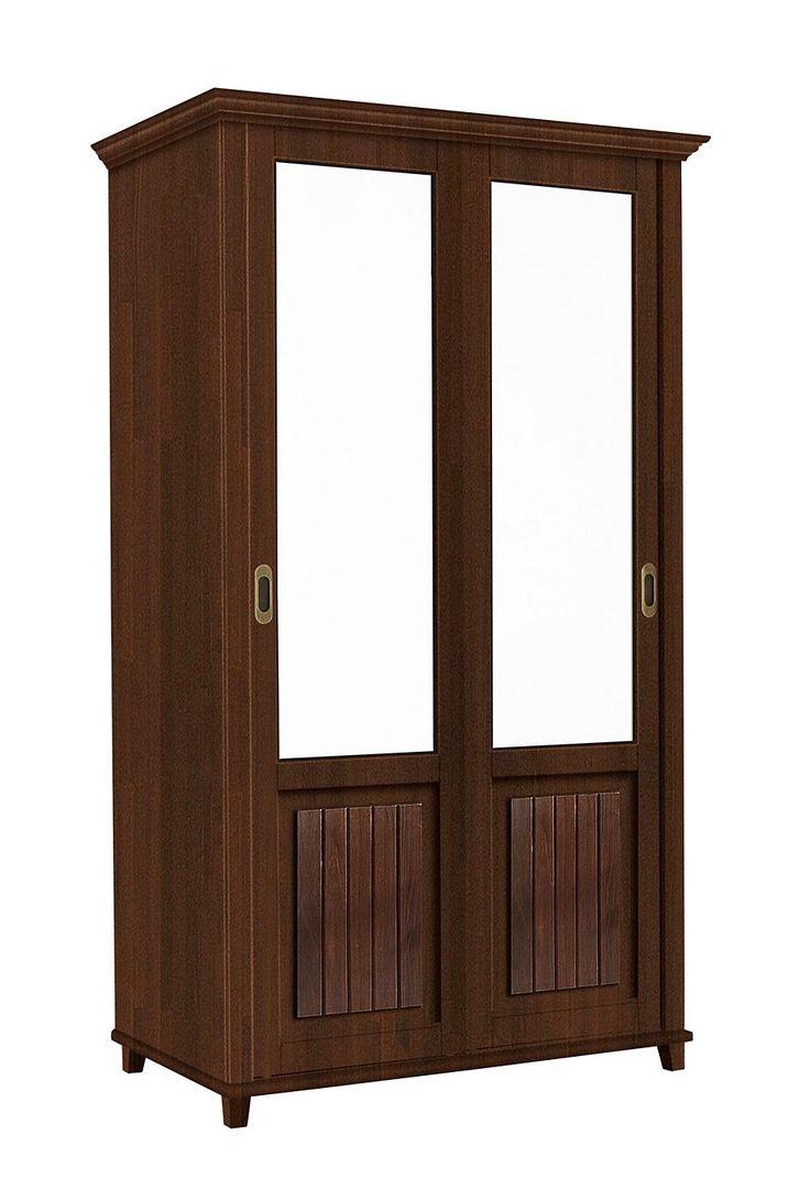Nice Artikeldetails Kleiderschrank im Landhaus Stil Mit Schiebt ren Kleiderstange aus Holz in