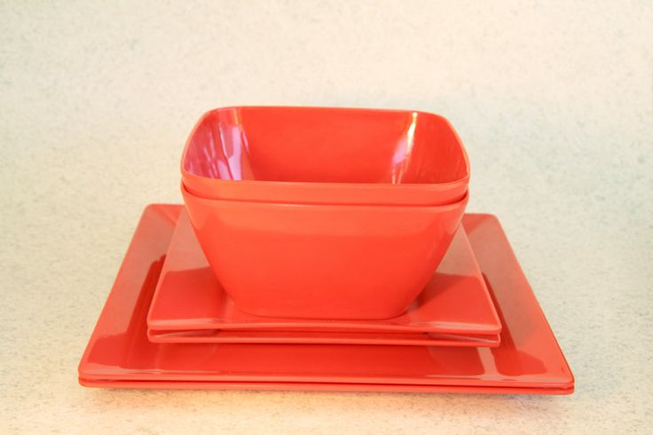 Plastic/Melamine square dining setting for 2 (3 colours), Assistive Style $15
