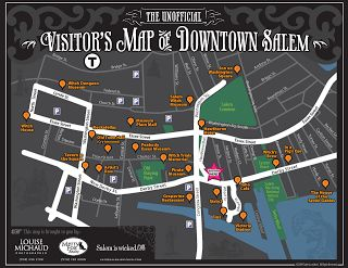 Visitors Map of Downtown Salem