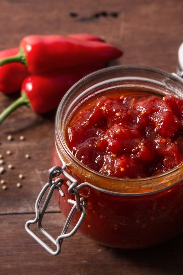 This spicy tomato chutney recipe from Josh Eggleton is the perfect accompaniment to cold cuts and cheese, or could be slathered on a sandwich or burger. Josh in particular recommends serving this with his veggie burger recipe, with the fiery chilli and tangy tomato chutney acting as a pepped up ketchup.                                                                                                                                                                                 More
