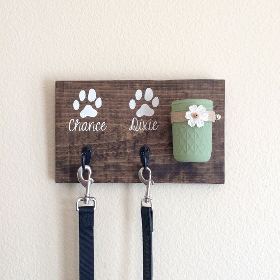 Dog Leash HolderDog Treat HolderDog Leash SignDog by DodsonDecor