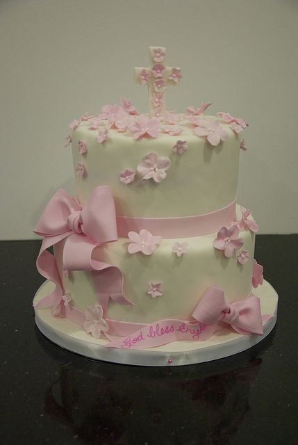 first communion cake by www.fortheloveofcake.ca, via Flickr