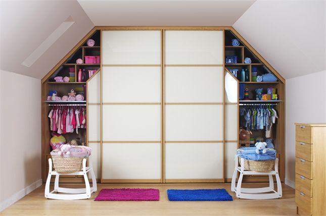 White Glass & Light Oak Rails Sliding Wardrobe