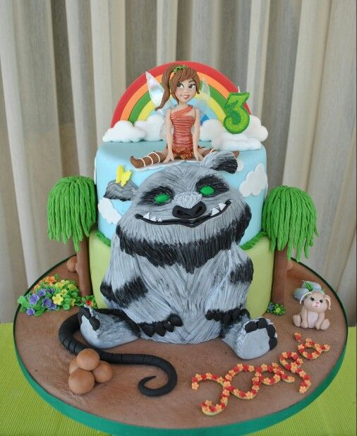 Fawn and Gruff cake from Tinkerbell and the Legend of Neverbeast