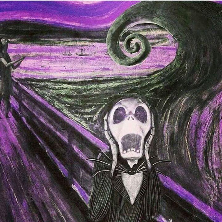 paintin O Grito de Tim Burton