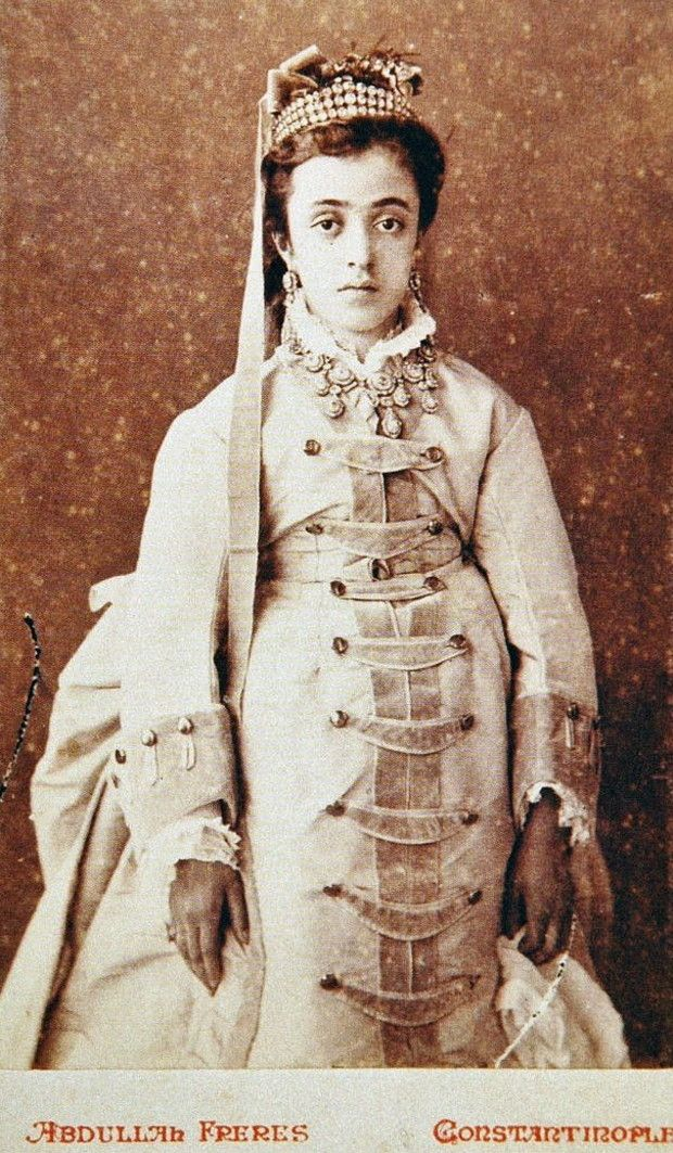 Portrait of Saliha Sultan (1862-1941). Istanbul, 1874. She was the fourth daughter of the Ottoman sultan Abdülaziz (reign: 1861-1871).