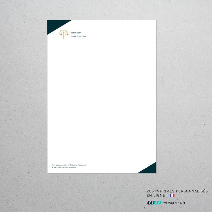 Tête de lettre moderne, chic et simple #papeterie #tete #de #lettre #papier #entete #design #print #impression #graphisme #graphic #letter #droit #justice #juge #law #minimaliste