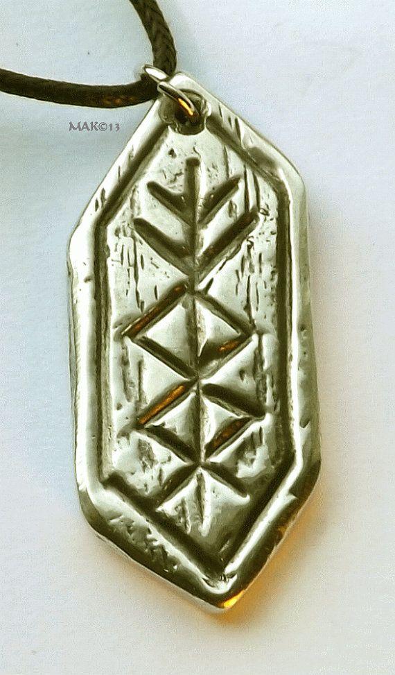 Prosperity Rune Pewter Pendant Nordic by RaventreePewter on Etsy, $16.95