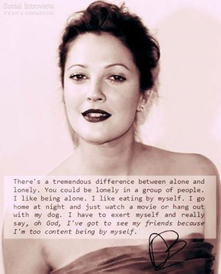 Drew Barrymore - Introvert *so me*