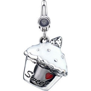 Cubcakes anyone...Enamel and Sterling Silver Charm. $59.99