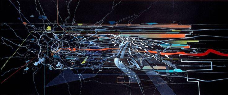 Zaha Hadid-London 2066 Plan and perspective Media:painting http://www.zaha-hadid.com/masterplans/london-2066/ Enhancing graphic impression