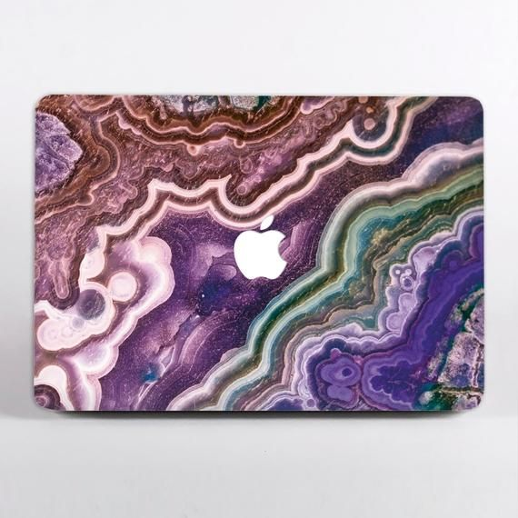 Purple Marble MacBook Air 13 Skin MacBook Pro 15 inch 2018 Decal MacBook Retina 11 Violet Stone Laptop Accessories Mac Air Sticker DR3693
