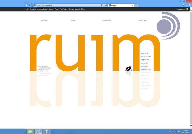 Hopontwerp: Ruim zd website homepage