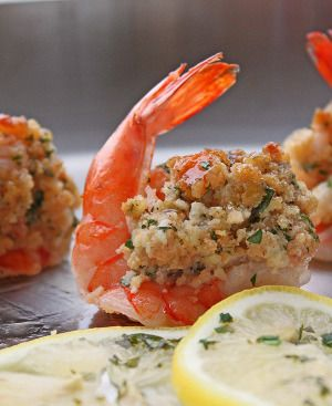 Stuffed shrimp is delicious appetizer.Fresh jumbo shrimp with bread crumb stuffing cooked in the oven. Super delicious!!!