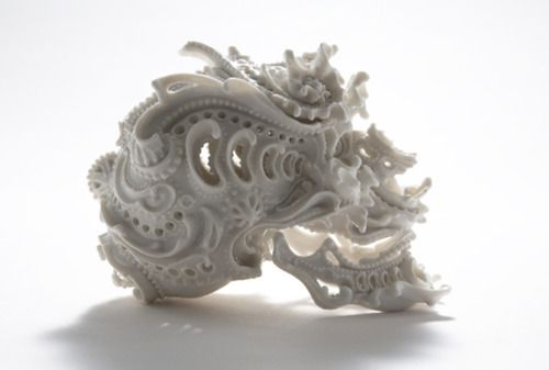 : Skulls, Ceramics Art, Sculpture, Katsuyo Aoki, Porcelain Skull, Skull Art, Predictions Dreams, Ceramics Skull, Katsuyoaoki