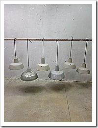 Industrial lamps, lampen industrieel vintage authentiek loft