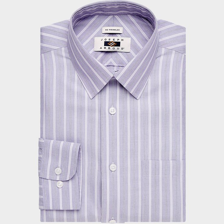 Buy Joseph Abboud 100% Egyptian Cotton Lavender Stripe Dress Shirt and other Light Purple Dress Shirts at MensWearhouse.com. Get FREE Shipping on orders $99+.