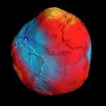 Images spectaculaire de la terre grâce au satellite GOCE  Un satellite de l'Agence spatiale européenne a tracé les effets d'attraction gravitationnelle que la terre subit. Le satellite Goce à construit des images incroyable de la terre, la montrant sous une nouvelle forme.