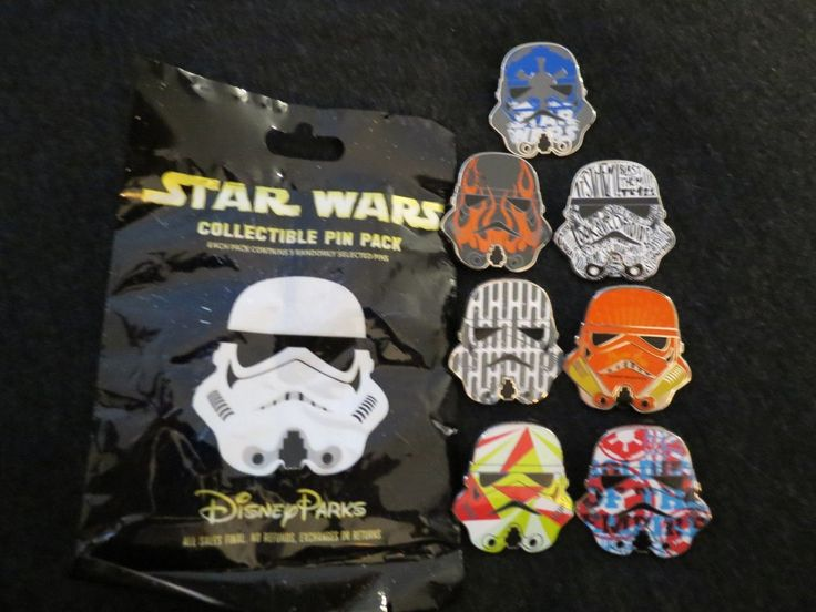 #disney Disney Star Wars Stormtrooper Helmet Mystery Bag Set of 7 Pins please retweet