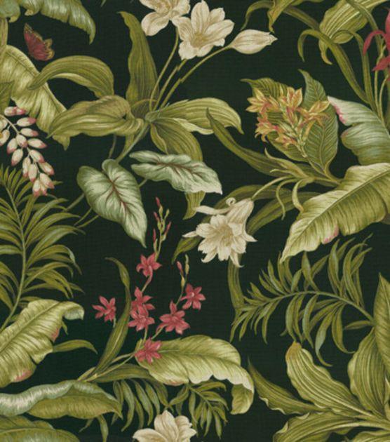 Waverly Sun N Shade Outdoor Fabric-Wailea Coasts  Ebony