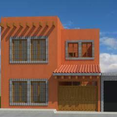 Ampliacion Nopalucan: Casas de estilo rústico por Taller Esencia