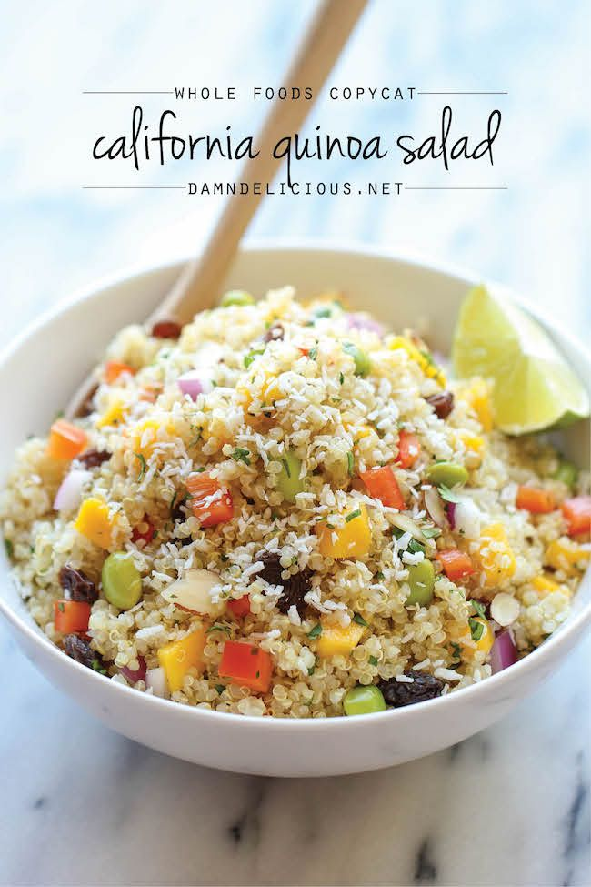 Whole Food's California Quinoa Salad - A healthy, nutritious copycat recipe that tastes 1000x better than the store-bought version!