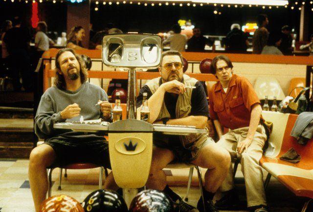 Still of Steve Buscemi, Jeff Bridges and John Goodman in The Big Lebowski  see it.
