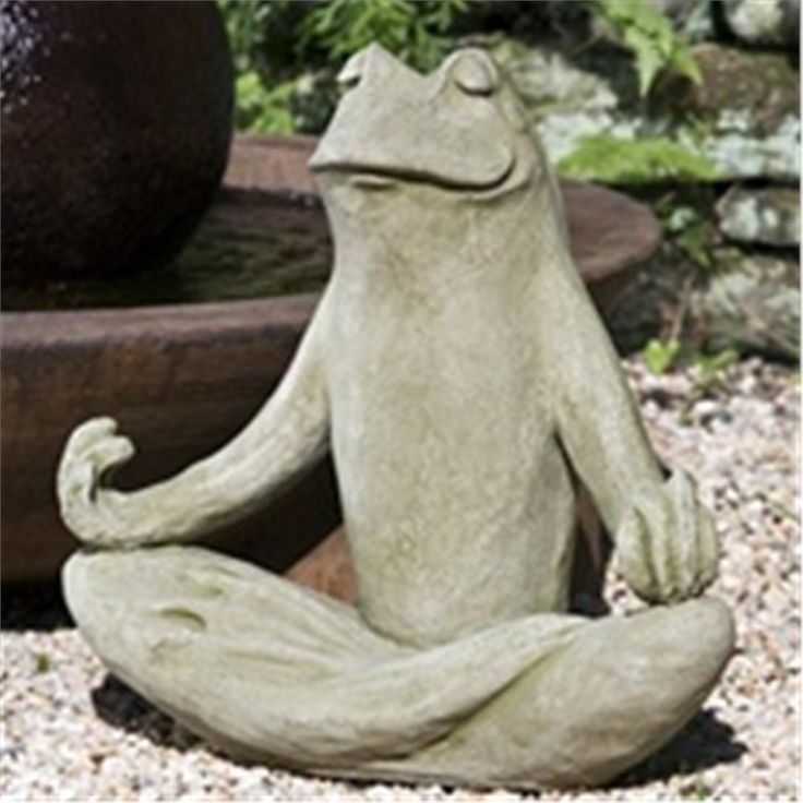 zen frog statue garden pinterest. Black Bedroom Furniture Sets. Home Design Ideas