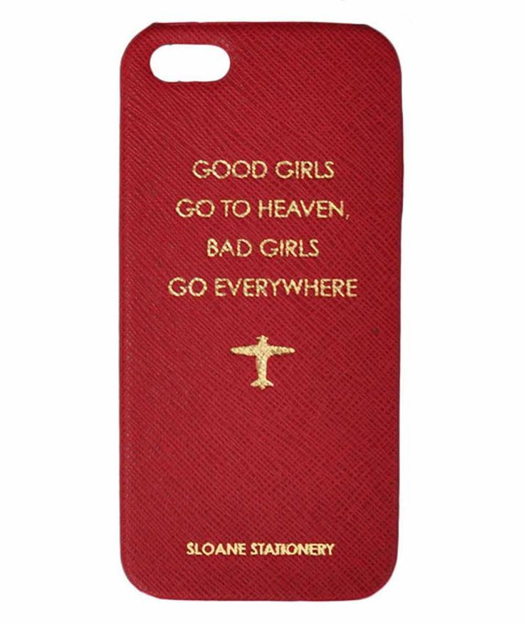"Funda Iphone5 ""Good girls go to heaven, bad girls go everywhere"" Disponible en: http://vbinspiration.com/disenadores/sloane-stationery/funda-iphone-5-good-girls.html"